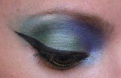 maquiagem azuis e verde