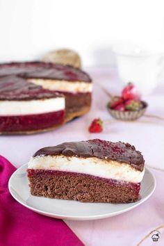 Jahodovo tvarohový koláč na spôsob Míša dezertu Tiramisu, Creme, Cheesecake, Ethnic Recipes, Sweet, Candy, Recipes, Cheesecakes