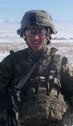 David Lee from Spokane will wear red on Friday for his nephew, Private Devin Lee, U.S. Army.  He is currently deployed in Afghanistan.  This photo was taken on a training mission in Alaska.