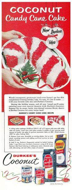 Advertisement for Durkee's Coconut, December 1956