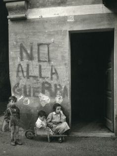 Werner Bischof, No War, Italy, 1946