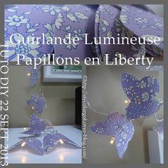 guirlande luminuse papillons en liberty
