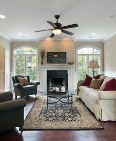 10 Commandments of Arranging Furniture - 1. Area Rugs Belong Under Furniture