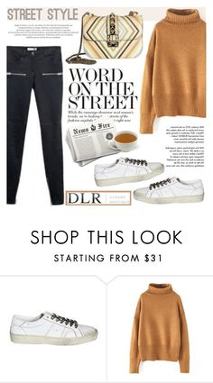 """""""Street style"""" by helenevlacho ❤ liked on Polyvore featuring Anine Bing, Yves Saint Laurent, Tiffany & Co. and Valentino"""