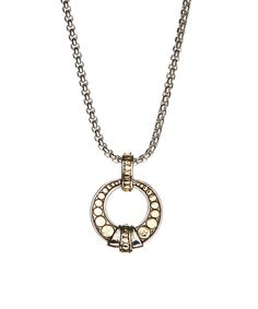 Look at this Two-Tone Open Circle Pendant Necklace on #zulily today!