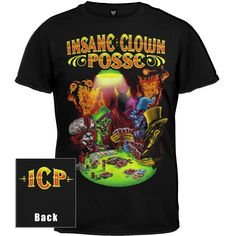 Insane Clown Posse - Mens Poker Party T-shirt Medium Black Insane Clown Posse, Poker Party, Internet Radio, Old Glory, Branded T Shirts, Fashion Brands, Amazon, Medium, Mens Tops