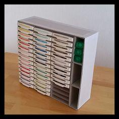 Stampin Up ... Aufbewahrung Stempelkissen Regal ... selber basteln ... kreativseinmitpapier