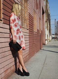 Acne heels & floral frock