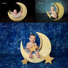 Moon Photo Prop Newborn Photography Prop Moon by MrAndMrsAndCo