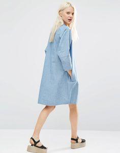 Image 2 ofMonki Oversized Denim Dress