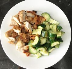 emilyskyefitI'm always posting this on my snap chat so thought I'd share it here too. This is my favourite meal! It's chicken thigh marinated in coconut amino seasoning then cooked in the oven & steamed zucchini with sea salt on top. It's delicious and my sensitive tummy loves it!  It's great when you find meals that are nutritious, simple, delicious & your body loves them! ☺️ This meal ticks all the boxes for me! - I'll post a video of what happens when I eat foods my body doesn't like in a…