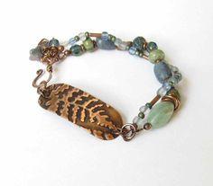 Embossed Copper Bracelet with handmade by WorldOfSquirrelCraft, $27.00
