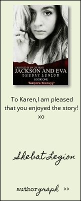 """Authorgraph from Shebat Legion for """"Jackson and Eva (Vampire Therapy)"""""""