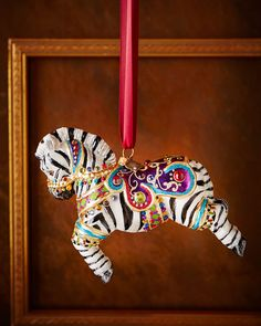 Jay Strongwater Zebra Christmas Ornament
