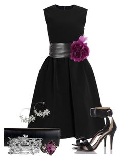 Little Black Dress by cynthia335 on Polyvore featuring мода, Preen, MANGO, Christian Louboutin, Alex Monroe and White House Black Market