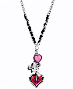 GUESS Necklace, Heart Charm Pendant
