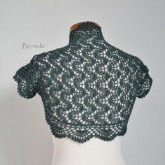 Instant Download Pattern Crochet Lace Bolero/Shrug Etsy.com/BernioliesDesigns