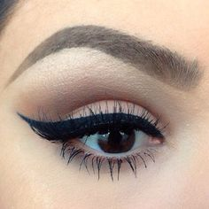 omg her eyebrows, eyelashes, and eyeliner are actual goals