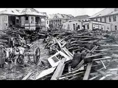 DISASTER: 1900 Galveston Hurricane - Maybe the most written about and analyzed storm of the 20th century ▶️ 1900 Galveston Hurricane, Texas Hurricane, Hurricane History, Galveston Island, Galveston Texas, San Francisco Earthquake, Weather Storm, Texas History, Urban Legends