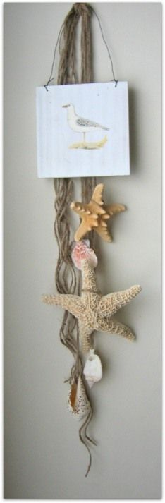 Shells & Starfish wall hanging brings back wonderful memories from your beach vacation.