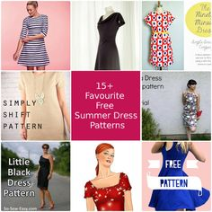 A round up of my favourite free summer dress patterns and tutorials. Summer dresses for daytime or evening, cool or hot climates. Great dress patterns!
