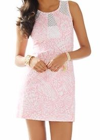 Lilly Pulitzer Kaylee Shift Dress in Hubba Bubba Sea Cups - great detail on the back of this great dress