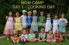 RE-inventing Camp: MOM camp .... what a GREAT idea for summertime. have a group of moms with kids similar ages do a week long mom camp different day different moms/house. one day of kid chaos and fun and 4 days of clean up and relaxing :D I could do this!
