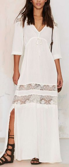 at nasty gal Wistful Thinking Lace Maxi Dress Looks Casual Chic, Lace Maxi, Lace Dresses, Mode Style, Dress To Impress, Dress Outfits, Dress Clothes, Beautiful Dresses, Boho Fashion