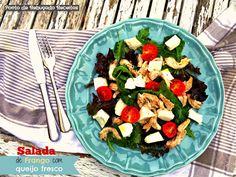 Ponto de Rebuçado Receitas: Salada de frango e queijo fresco