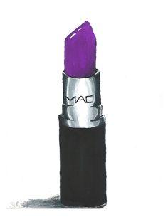 Violetta MAC Lipstick Print Fashion by lexisillustrations on Etsy, $25.00