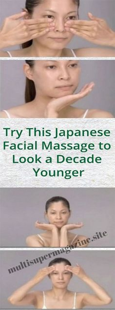 Try This Japanese Facial Massage to Look a Decade Younger – Multi Super Magazine Beauty Tips - See the details beauty tip or may be beauty tips for girls then you're in the right place CLICK VISIT link to read more. Beauty tips for all! Massage Facial, Self Massage, Facial Yoga, Best Anti Aging, Anti Aging Skin Care, Natural Hair Mask, Facial Exercises, Get Rid Of Blackheads, Tips Belleza