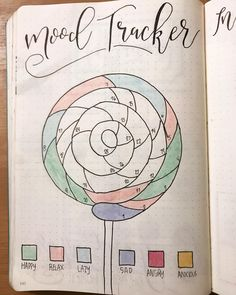 Lollipop Mood Tracker - Lollipop Mood Tracker The Effective Pictures We Offer You About diy baby A quality picture can tel - Bullet Journal Tracker, Bullet Journal Planner, Bullet Journal Junkies, Bullet Journal Ideas Pages, Bullet Journal Spread, Bullet Journal Layout, Bullet Journal Inspiration, Bellet Journal, Bullet Journal Aesthetic
