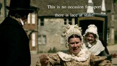 Cranford.  Oh my gosh, the cat that pooped the lace, hilarious!  I miss this show.