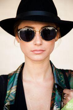 Vintage Classic Metal-Rimmed Sunglasses