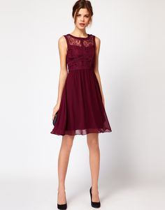 Warehouse Lace Bodice Dress from ASOS