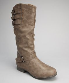 Ah, these are SUPER cute and only $30! The sale ends tomorrow (Monday) at midnight. I have to figure out what to do before then!!  Take a look at this Gray Buckle Boot by Shoes of Soul on #zulily today!