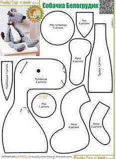 Vzory psov - symbol Diskusia na LiveInternet - Ruský servis Online denníky Doll Crafts, Sewing Crafts, Sewing Projects, Plush Pattern, Dog Pattern, Monkey Pattern, Free Pattern, Sewing Tutorials, Sewing Patterns