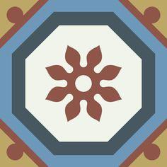 ODYSSEAS 411 Handmade Tiles, Pattern, Cement, Greece, Tiles, Model, Patterns