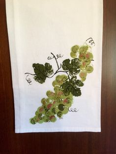 A personal favorite from my Etsy shop https://www.etsy.com/listing/468018915/green-grape-flour-sack-towel