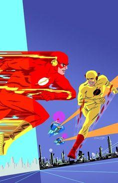The Flash vs. Reverse-Flash by Darwyn Cooke