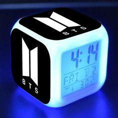 Buy BTS Alarm Clock LED 2019 at the best price with FREE Worldwide Shipping to all countries. Mochila Kpop, Mochila Do Bts, Bts Hoodie, Bts Shirt, Bts Bracelet, Charm Bracelets, Bts Bag, Estilo Harajuku, Led Alarm Clock