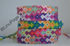 Colorful friendship bracelets. Handmade