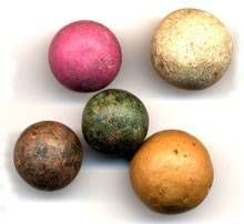 Made marbles were when clay What Are