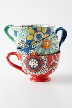 Anthropologie - Ayaka Mug my coffee will taste better I huge mugs so im not constantly refilling my tea My Coffee, Coffee Cups, Tea Cups, Coffe Bar, Latte Cups, Coffee Talk, Crackpot Café, My New Room, Mug Cup