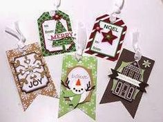 Peanuts and Peppers Papercrafting: Make It Monday - Stampin' Up! Under The Tree Tag A Bag Christmas Tags
