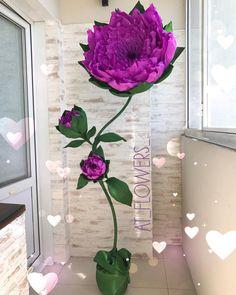 """54 Likes, 1 Comments - Большие Цветы Изготовление✂️ (@at_flowers_) on Instagram: """"Это  любовь с первого взгляда Сиреневый красавец для @nadya200987 . . ⬆️ рост в скрутке - более 2…"""""""