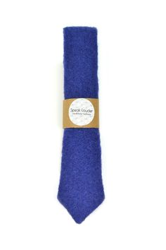 Blue Wool Men Necktie - Super luxury tie- 80% wool by speaklouder on Etsy