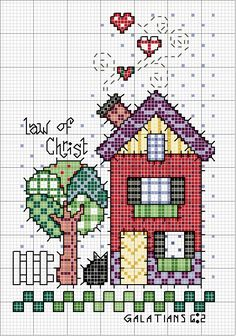 Thrilling Designing Your Own Cross Stitch Embroidery Patterns Ideas. Exhilarating Designing Your Own Cross Stitch Embroidery Patterns Ideas. Cross Stitch House, Cross Stitch Needles, Cross Stitch Charts, Cross Stitch Designs, Cross Stitch Patterns, Cross Stitching, Cross Stitch Embroidery, Embroidery Patterns, Easy Cross