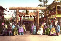 SHINTO PRIESTS GATHER TO CONSPIRE -- Plain Salted Paper Prints of Old Meiji-era Japan (#21) by Okinawa Soba, via Flickr