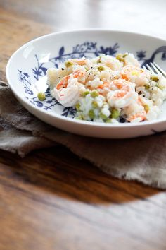 5 & Spice - Lemony risotto with shrimp and peas